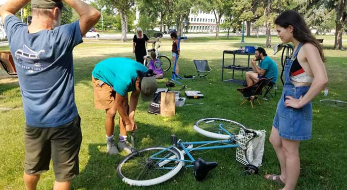 ConnecTour Chronicles: A bicycle clinic that started with a bang